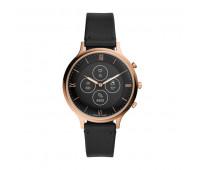 Fossil Women's Hybrid Smartwatch HR Charter Black Leather