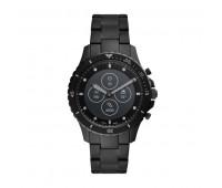 Fossil Men's Hybrid Smartwatch HR FB-01 Black Stainless Steel