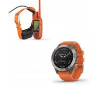 Garmin Astro 900 Dog Tracking Bundle (Includes Handheld and Dog Device) with Garmin f?nix 6 - Sapphire
