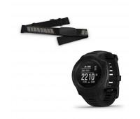 Garmin Instinct – Tactical Edition Black with Garmin Heart Rate Monitor Bundle