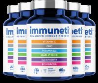 Immuneti - Advanced Immune Defense, 6-in-1 Powerful Blend of Vitamin C, Vitamin D3, Zinc, Elderberries, Garlic Bulb, Echinacea - Supports Overall Health, Provides Vital Nutrients & Antioxidants - 5 Pack