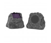 Innovative Technology - Pair of Solar Charging Bluetooth Outdoor Rock Speakers