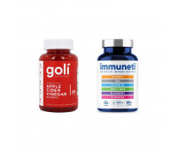 Goli Nutrition Apple Cider Vinegar Gummies, 60 ct + Immuneti - Advanced Immune Defense, 5-in-1 Powerful Vitamin Blend 60 ct, 1 Month Supply