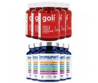 Goli Nutrition Apple Cider Vinegar Gummies, 300 ct + Immuneti - Advanced Immune Defense, 5-in-1 Powerful Vitamin Blend 300 ct, 5 Month Supply