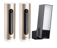 2 Netatmo bundle with Netatmo Welcome, Indoor security camera + 1 Netatmo Presence, Smart Outdoor Security Camera