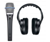 Shure BETA 87A Vocal Microphone + SRH1440 Professional Open Back Headphones Bundle