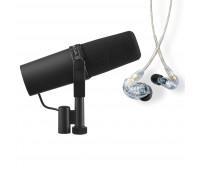 ShureSM7B Vocal Microphone + SE215 Professional Sound Isolating Earphones Bundle