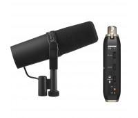Shure SM7B Vocal Microphone + X2U Microphone to USB Adapter Bundle