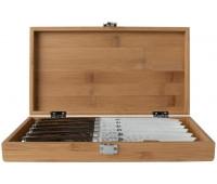 Shun Premier 6 Piece Steak Knife Set with Bamboo Storage Box