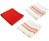 Le Creuset - Set of 3 Kitchen Towels, Cerise