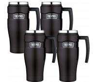 4 Thermos Stainless King 16oz Travel Mug, Matte Black