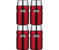 4 Thermos Stainless King 24oz Food Jar, Cranberry