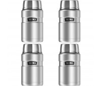 Thermos Stainless King 24oz Food Jar, Stainless Steel - 4 Pack