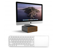 Twelve South bundle with MagicBridge Wireless Keyboard and Trackpad for Apple + HiRise Pro Display Stand for iMac - Gunmetal
