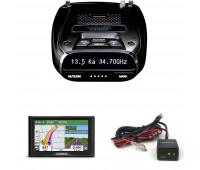 Uniden DFR7 Super Long Range Radar/Laser Detection GPS with Hardwire Kit + Garmin Drive 52 & Traffic