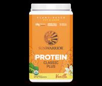 Sunwarrior - Classic Plus - Vegan Protein Powder with Peas & Brown Rice, Raw Organic Plant Based Protein (30, Vanilla)