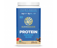 Sunwarrior - Warrior Blend - Organic Vegan Protein Powder with BCAAs and Pea Protein (Mocha, 30 Servings)