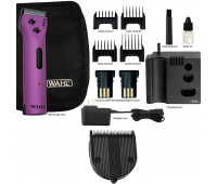 Wahl Professional Animal Arco Pet, Dog, Cat, and Horse Cordless Clipper Kit - Purple + Wahl Professional Animal 5-in-1 Diamond Blade